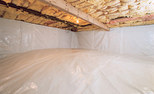 Crawl Space Moisture Barrier After in Rochester