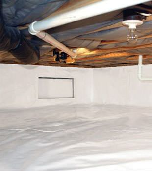 crawl space vapor barrier in Zumbrota installed by our contractors