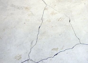 cracks in a slab floor consistent with slab heave in Newport.