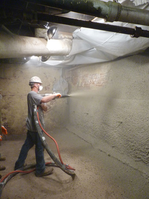 Shotcrete wall restoration services in Fargo