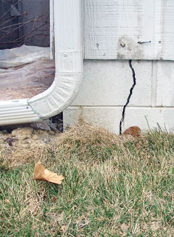 foundation wall cracks due to street creep in Prior Lake