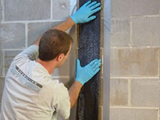 CarbonArmor® Strip applied to wall in Eau Claire