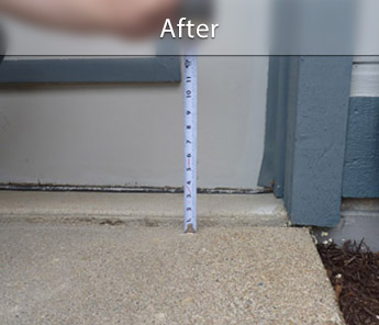 Rochester concrete walkway repair & leveling