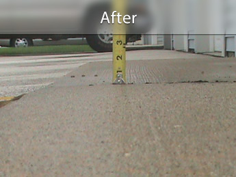 Repairing driveway with concrete leveling in MN, IA, and WI