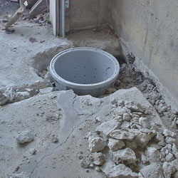 Placing a sump pit in a Minnetonka home