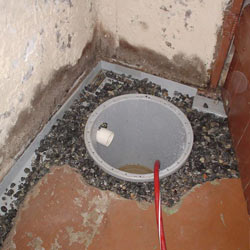 Installing a sump in a sump pump liner in a Saint Paul home