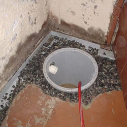 Installing a sump in a sump pump liner in a Minneapolis home