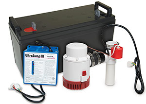 a battery backup sump pump system in Lakeville
