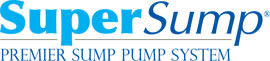Logo for our SuperSump® Pump System, available in Mason City and other parts of Minnesota, Iowa, and Wisconsin