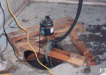 A Mankato sump pump system that failed and lead to a basement flood.