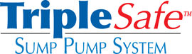 Sump pump system logo for our TripleSafe™, available in areas like Faribault