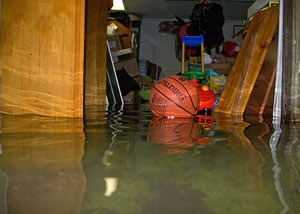 Flooded basement in Rochester