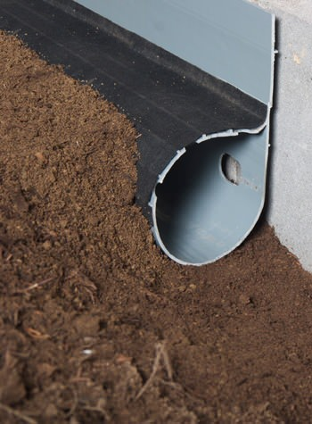 A weeping tile system for dirt crawl space floors with groundwater infiltration