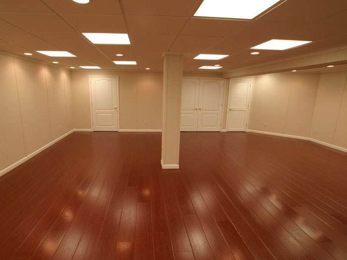 Rosewood faux wood basement flooring for finished basements in Rochester ·  waterproof ... - Wood Basement Flooring MillCreek Waterproof Flooring