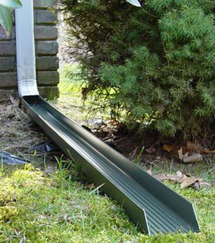 Gutter downspout extension installed in Cottage Grove