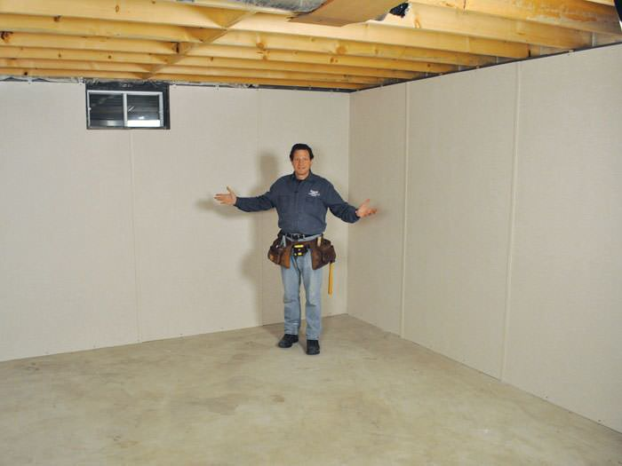 ... Zumbrota Basement Insulation Covered By EverLast™ Wall Paneling, With  SilverGlo™ Insulation Underneath