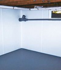 Plastic basement wall panels installed in a Eden Prairie, Minnesota, Iowa, and Wisconsin home