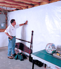 Plastic 20-mil vapor barrier for dirt basements, Eden Prairie, Minnesota, Iowa, and Wisconsin installation