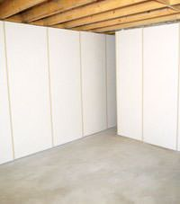 Unfinished basement insulated wall covering in Eden Prairie, Minnesota, Iowa, and Wisconsin